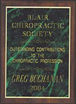 Greg recognised for contributions to chiropractic